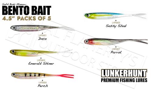 "LunkerHunt Bento Bait Minnow - 4.5"" Pack of 5 #LHPB4"