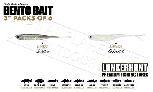 "LunkerHunt Bento Bait Minnow - 3"" Pack of 6 #LHPB"