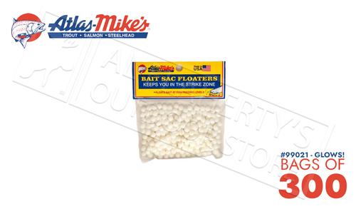Atlas Mike's Bait Sac Floaters - Bag of 300 #990