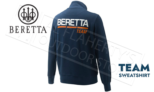 Beretta Team Sweatshirt Totoal Eclipse Blue #FU261T10980504
