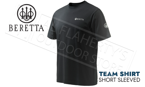 Beretta T-Shirt Team Short Sleve Black #TS472T15570999