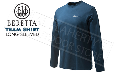 Beretta T-Shirt Team Long Sleeve in Total Eclipse Blue #TS482T15570504