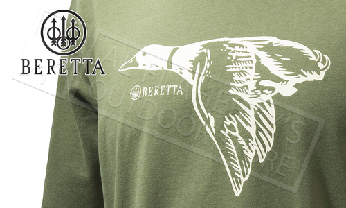 Beretta T-Shirt Duck Sketch Army Green #TS681T1416078K