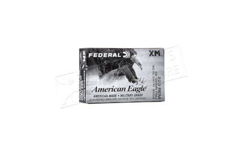 Federal American Eagle 223 Rem Military Grade, FMJ 55 Grain Box of 20 #AE223JX