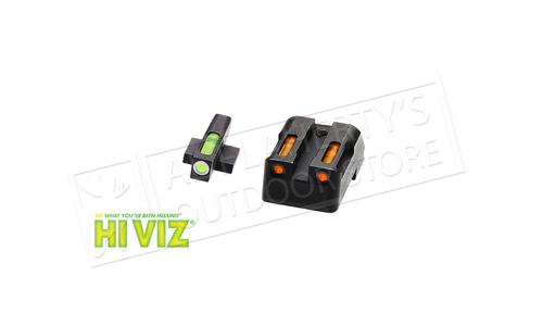 HiViz LiteWave H3 for Kimber 1911 - Green Front & Orange Rear Combo and Orange Front Ring #KBN621