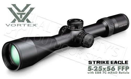 Vortex Strike Eagle Rifle Scope 5-25 FFP EBR 7C mrad #SE-52504