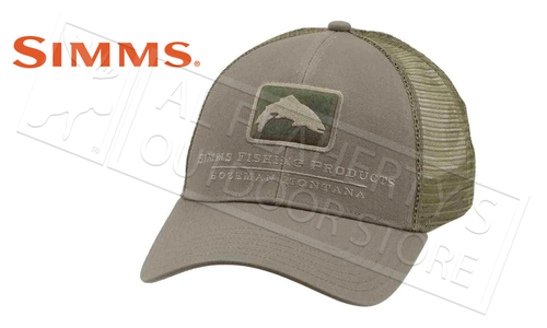 Simms Trout Icon Trucker Cap, Tumbleweed #12226-261