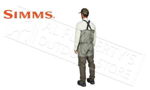 Simms Men's Freestone Stocking Foot Wader, Dark Gunmetal #12569-014