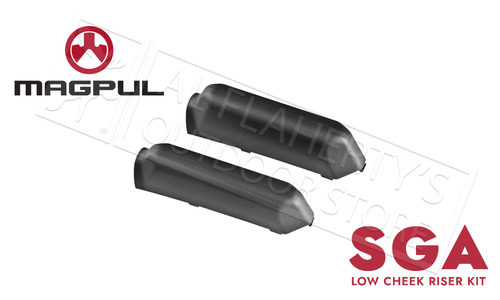 Magpul SGA Rifle and Shotgun Stock Cheek Riser Kit Low #MAG463-BLK
