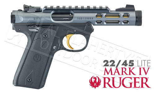 Ruger MK IV 22/45 Lite in Diamond Grey 22LR #43934