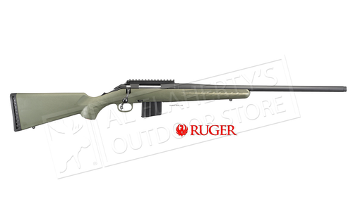 Ruger American Ranch Rifle Moss Green in 5.56 with AR Magazine and Threaded Barrel #36927