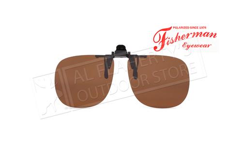 Fisherman Eyewear Simple Square Brown Polarized Lens Clip-Ons #90850