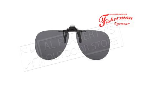 Fisherman Eyewear Simple Aviator Gray Polarized Lens - Clip On #90841