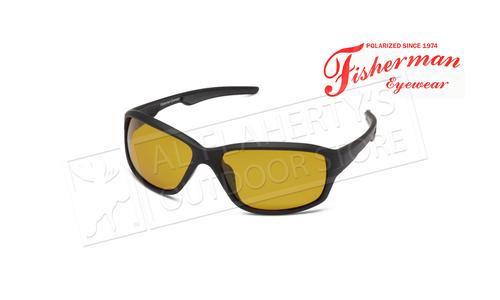 Fisherman Eyewear Avocet Matte Black Frame / (Photochromic) Yellow-Amber lens #50350004