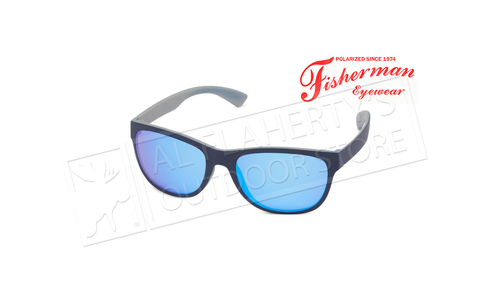 Fisherman Eyewear Arc - Navy Ext. with Gray Interior/ Gray Lens with Blue Mirror #50723431