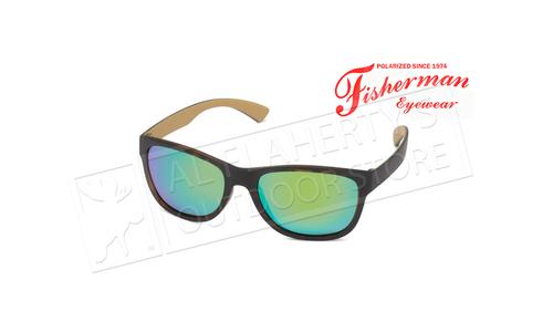 Fisherman Eyewear Arc - Tort  Ext. withTan Interior/ Brn Lens with Grn Revo #50723262