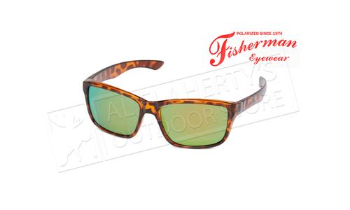 Fisherman Eyewear Cabana - ShinyTort Frame Frt & Tmpls / Brn Lens w/Grn Revo #50330262