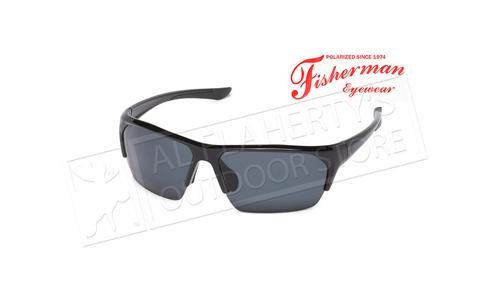 Fisherman Eyewear Ranger - Shiny Black Frame with Gray Rubber Tips/Gray  #50733001