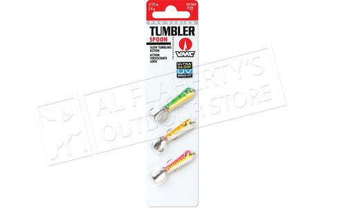 VMC Pro Series Tumbler Spoon UV Glow Kit, 1/12 oz. Size 12 Hooks Pack of 3 #TMS112GUV3