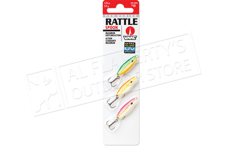 VMC Pro Series Rattle Spoon UV Glow Kit, 1/8 oz. Size 10 Hooks Pack of 3 #RTS18GUV3