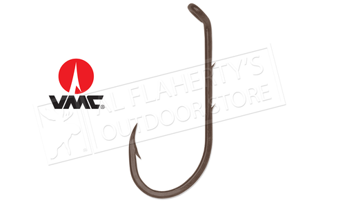 VMC Faultless Baitholder Hooks with Turned Down Eye and Offset Point, Bronze Finish Various Sizes #9292BZ