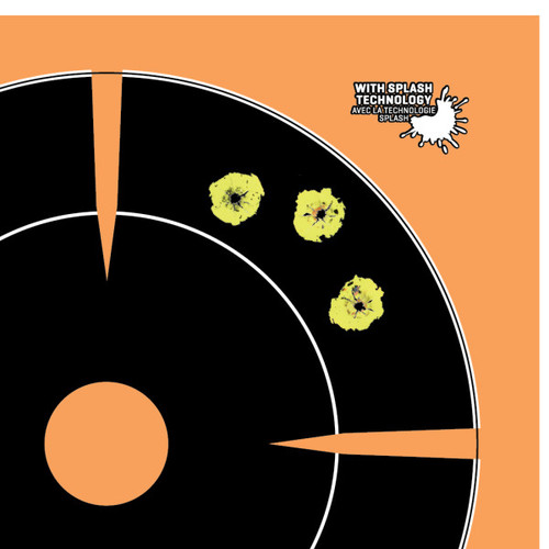 """Allen EZ Aim Adhesive Splash 6"""" Bulleseye Target #15255"""