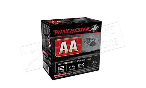 "(Store Pick up Only) Winchester AA Super Sport Sporting Clays Shot Shells 12 Gauge 2-3/4"" #7-1/2 Shot Case of 250 #AASC12507"