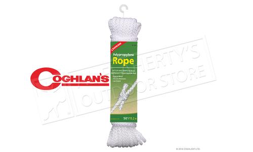 "Coghlans Polypropylene Rope, 50ft, 1/4"" Diameter #0020"