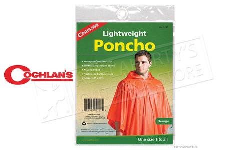 Coghlans Poncho - Blaze Orange, One Size Fits All #9267