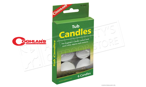 Coghlan's Tub Candles, 6-Pack #8509
