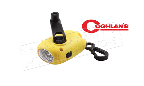 Coghlan's Ultra Compact Dynamo Flashlight, Self Charging 10 Lumens, Red or Yellow #1203