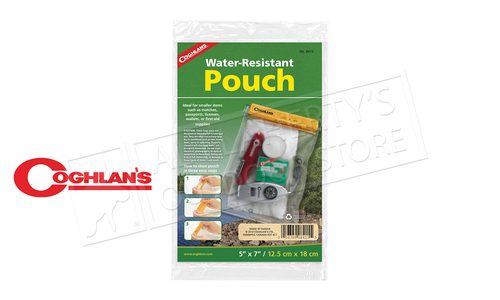 "Coghlan's Water Resistant Pouch, 5"" x 7"" #8415"