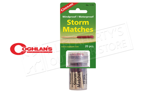 Coghlan's Windproof & Waterproof Storm Matches, Pack of 20, NATO Approved #1170