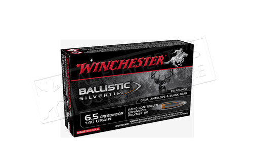 Winchester 6.5 Creedmore Ballistic Silvertip, Polymer Tipped 140 grain Box of 20 #SBST65CM