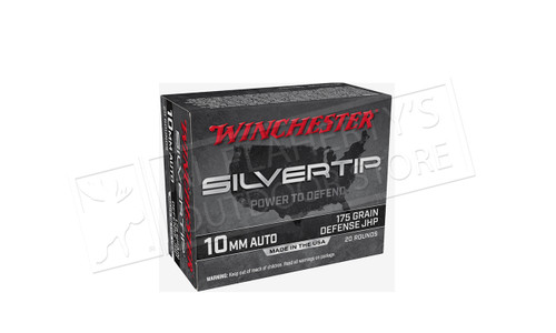 Winchester 10mm Silvertip, JHP 175 Grain Box of 20 #W10MMST