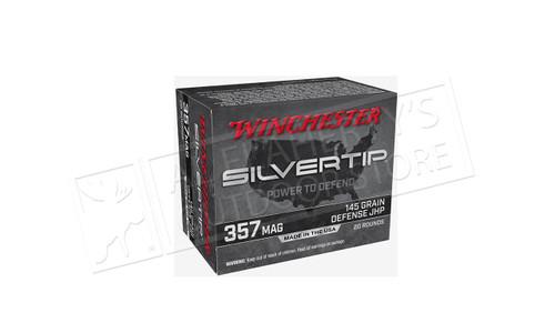 Winchester .357 Magnum Silvertip, JHP 145 Grain Box of 20 #W357ST