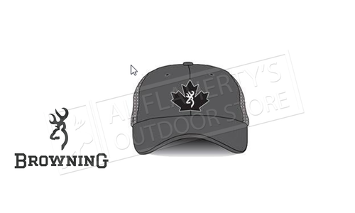 Browning Trucker Cap Maple Leaf Charcoal #308845791