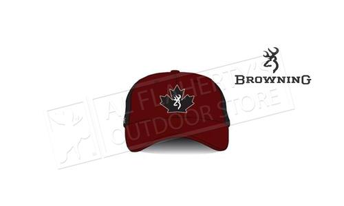 Browning Trucker Cap Maple Leaf Red & Black #308846711