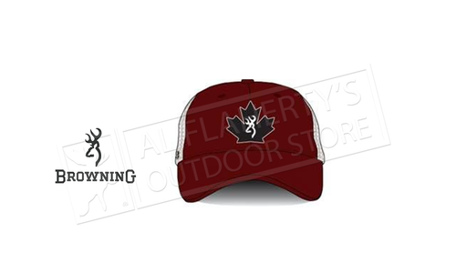 Browning Trucker Cap Maple Leaf Red #308845811