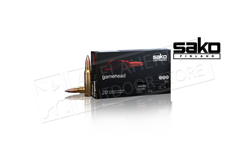 Sako Ammo 222 REM Gamehead, JSP 55 Grain Box of 20 #03930