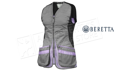 Beretta Women's Silver Pigeon Shooting Vest, Grey & Lavender Small to XL #GT791T155309OHS