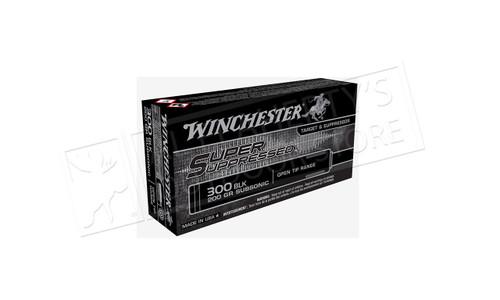 Winchester 300 Blackout Super Suppressed, 200 Grain Box of 20 #SUP300BLK