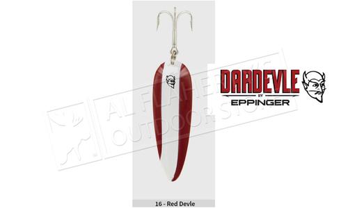 "Eppinger Dardevle Spoon, 3 5/8"", 1 oz, Red/White Stripe, Nickel Back #16"
