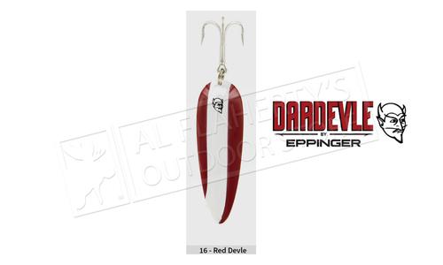 "Eppinger Dardevlet Spoon, 2 7/8"", 3/4 oz, Red/White Stripe, Copper Back #109"