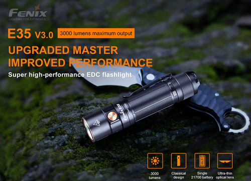 Fenix Flashlight 3000 Lumens #E35 V 3.0