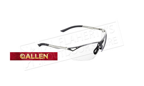 Allen Trigger Metal Frame Shooting Safety Glasses, Clear Lenses #2368