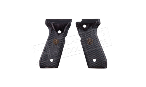 Pachmayr Renegade Beretta 92 Charcoal Checkered Laminate Pistol Grips #63201