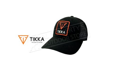 Tikka Trucker Hat Black Mesh back #0855-006