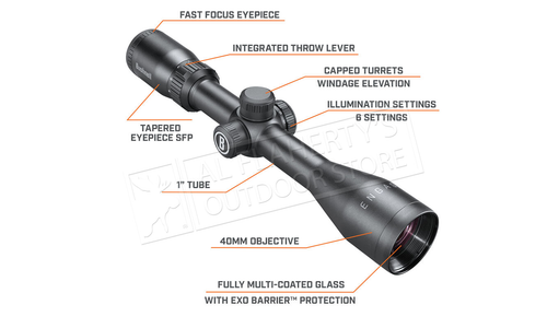 Bushnell Engage Scope 3-9x40mm with Illuminated MultiX SFP Reticle #RE3940BS9