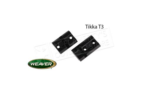 Weaver Optics Top Mount Base Pair for Tikka T3 Rifles #48476